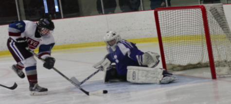 Boys' ice hockey shreds competition