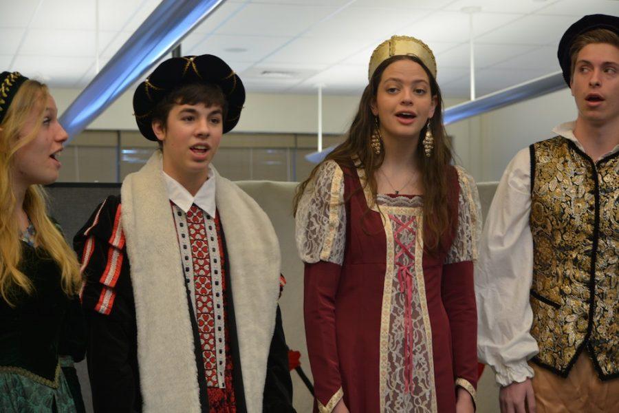 Senior Emily Williams, sophomore Kyle Wolkner, senior Catherine Steffens and junior Thomas Heath-Ringrose.