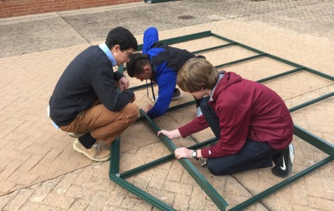 Engineering classes build new greenhouse