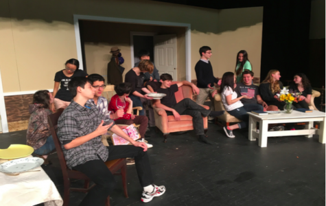 Lights, Camera, Action-- The case of You Can't Take it With You practices one week before opening night.