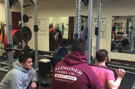 Students hoist a new powerlifting club