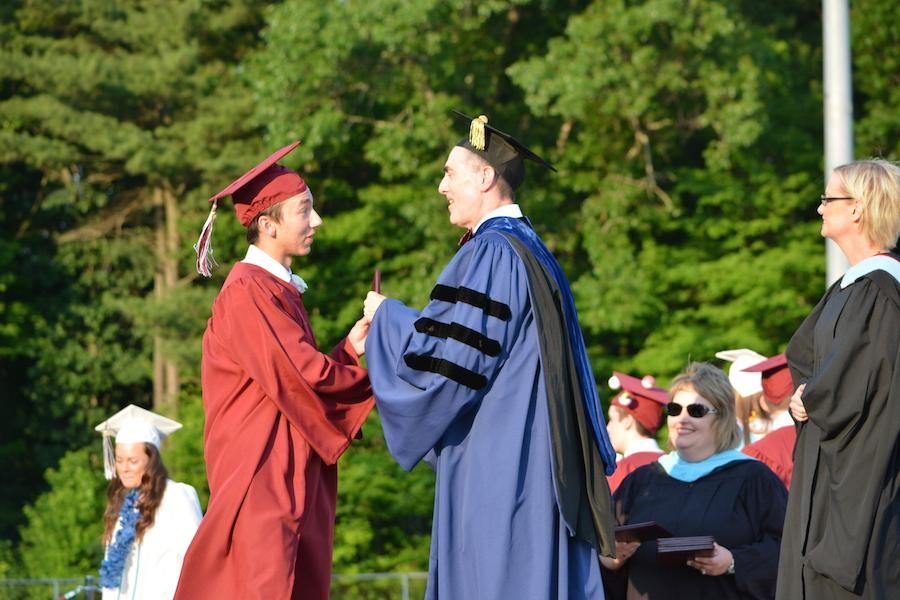 2016+graduate+Chris+Arrotti+receives+his+diploma.