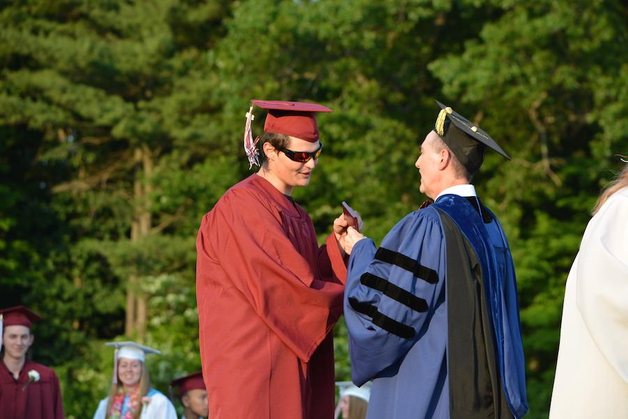 2016+graduate+Mason+Flood+receives+his+diploma.