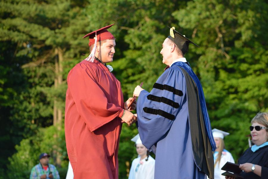 2016+graduate+Matt+Goralski+receives+his+diploma.