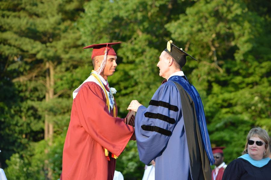 2016+graduate+Adrian+Grabowski+receives+his+diploma.