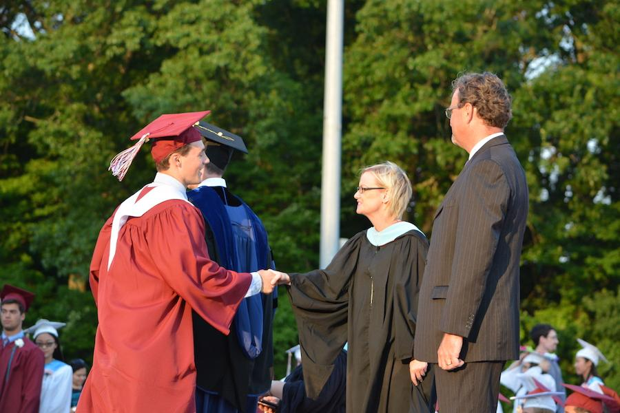 2016+graduate+Matt+Pignatella+receives+his+diploma.