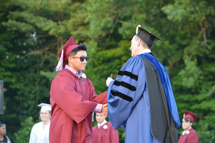 2016+graduate+Peter+Tremback+receives+his+diploma.