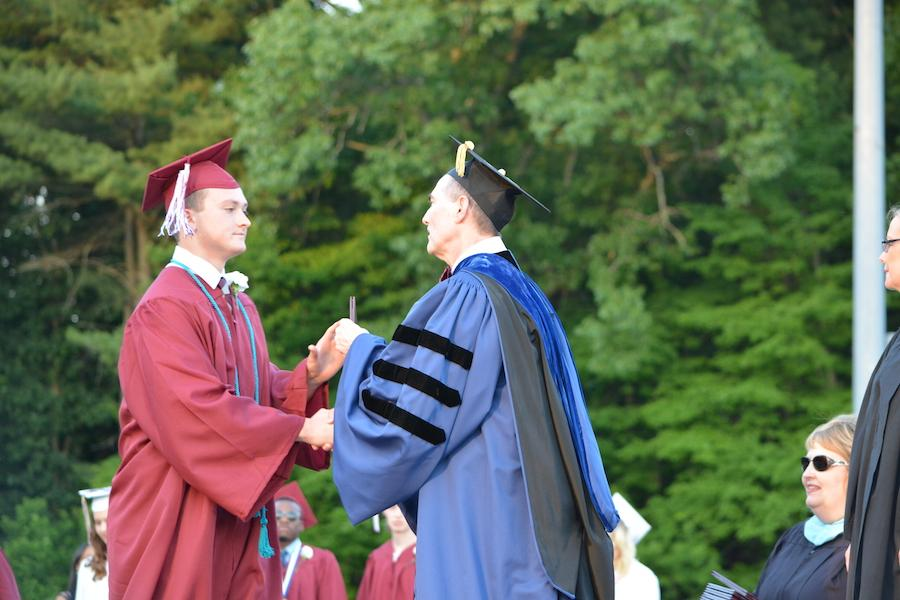 2016+graduate+Boston+Van+Buren+receives+his+diploma.