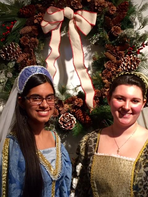 Hitting+the+high+note--+Seniors+Katie+Byrne+%28right%29+and+Shruti+Bhatia+%28left%29+perform+at+the+Wadsworth+Atheneum+with+the+Madrigrals.+Byrne+and+Bhatia+have+been+singing+together+for+the+past+five+years.