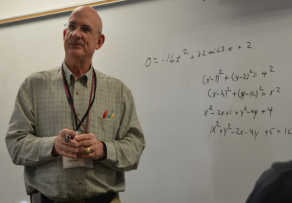 Count to 10-- Math teacher Bob Thomas teaches Pre-Calculus Honors to his sophomores and juniors. Thomas is retiring but will be returning as a long-term substitute teacher next year.