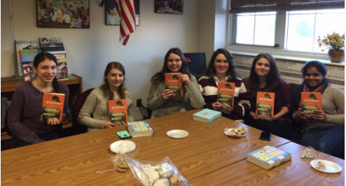 Students meet to read-- Seniors Julie Pelland, Nicole Sienicki, Ally Urban, Shannon Connolly, Amanda Roth and Niki Patel meet during first period to discuss Wonders of the Invisible World. The senior book club meets on a rolling schedule based on the length of the book and student availability.