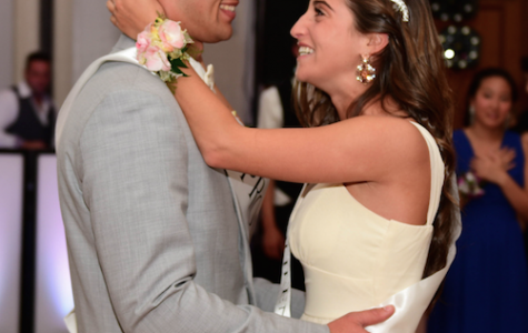 Dancing the night away-- Seniors Sarah Wolkoff and Michael Popolizio dance together after being crowned Prom King and Queen. Seniors celebrated prom at the Hartford Marriott.