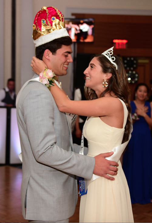 Dancing+the+night+away--+Seniors+Sarah+Wolkoff+and+Michael+Popolizio+dance+together+after+being+crowned+Prom+King+and+Queen.+Seniors+celebrated+prom+at+the+Hartford+Marriott.