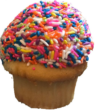 Sugar Sweet-- The Plain Jane cupcake from NoRA Cupcake Company is the most popular dessert. The cupcake has a soft, light vanilla cake with a thick layer of vanilla buttercream that is covered in a layer of rainbow sprinkles.