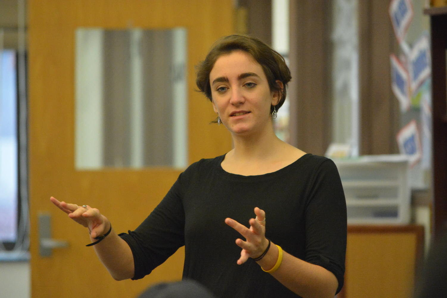 Indonesia comes to Farmington -- 2011 alumna Corin Seguljic speaks about her experience in the Peace Corps as an English teacher in Java, Indonesia and the differences between culture, education systems, and traditions between America and Indonesia, on December 22 in the library during lunch waves. Within the Peace Corps, education is the largest sector with about 40 percent of volunteers working in education.