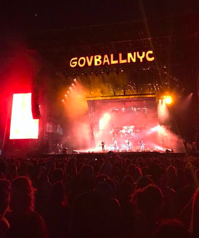 Light it up-- The main stage lights up as Chance The Rapper performs at last year's Governor's Ball Festival. He headlined the first night at the 2017 festival.