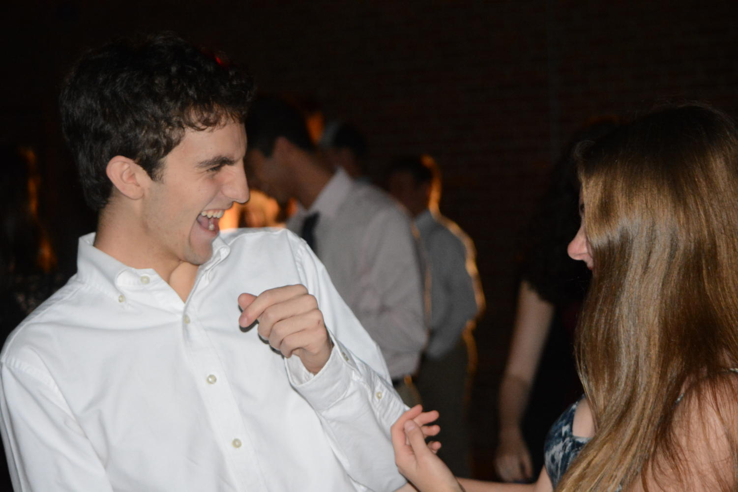 Homecoming Fun-- Senior John Ruot and Junior Carolyn Ives enjoy the festivities at the homecoming dance. The even took place on Saturday, September 29.