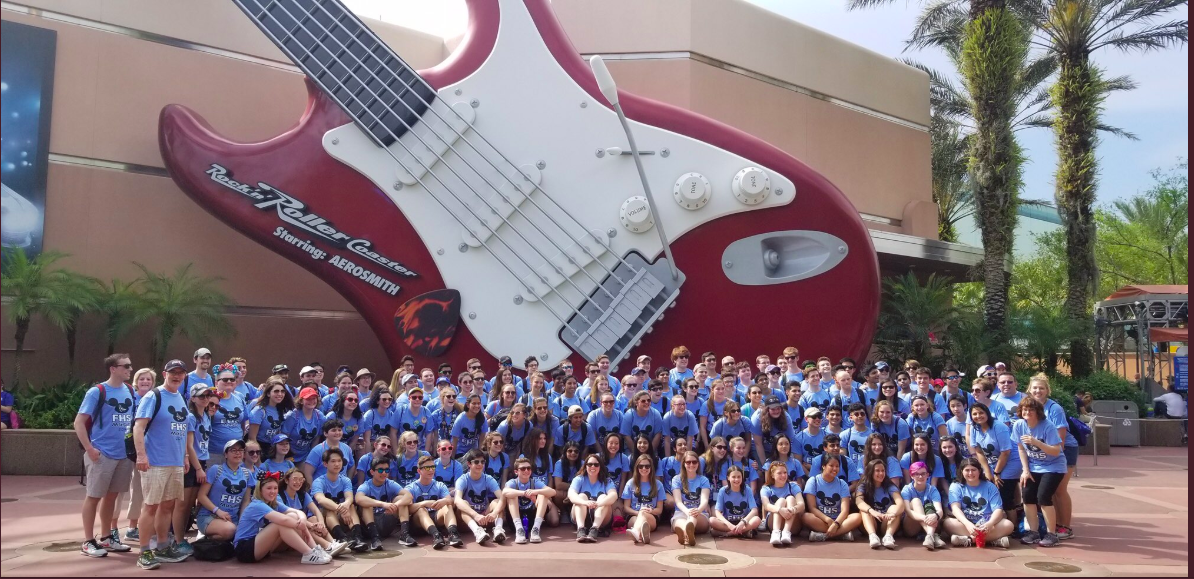 Walking on sunshine-- Students in honors band, orchestra, and choir classes traveled to Florida from April 4 to April 8. The students performed in the 15th annual Festival Disney.