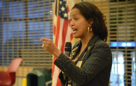 Congresswoman Jahana Hayes engages with constituents at high school