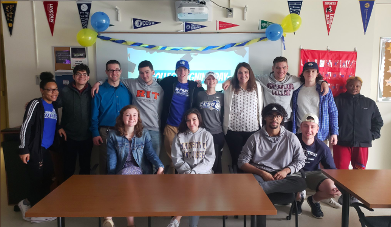 College-bound--+%0A+Advancement+Via+Individual+Determination+%28AVID%29+seniors+celebrate+their+post+high+school+plans.+The+AVID+program+that+is+offered+as+an+elective+course+in+schools+across+the+country+designed+to+help+students+in+the+academic+middle+or+in+need+of+extra+help+to+develop+the+skills+needed+for+post-high+school.