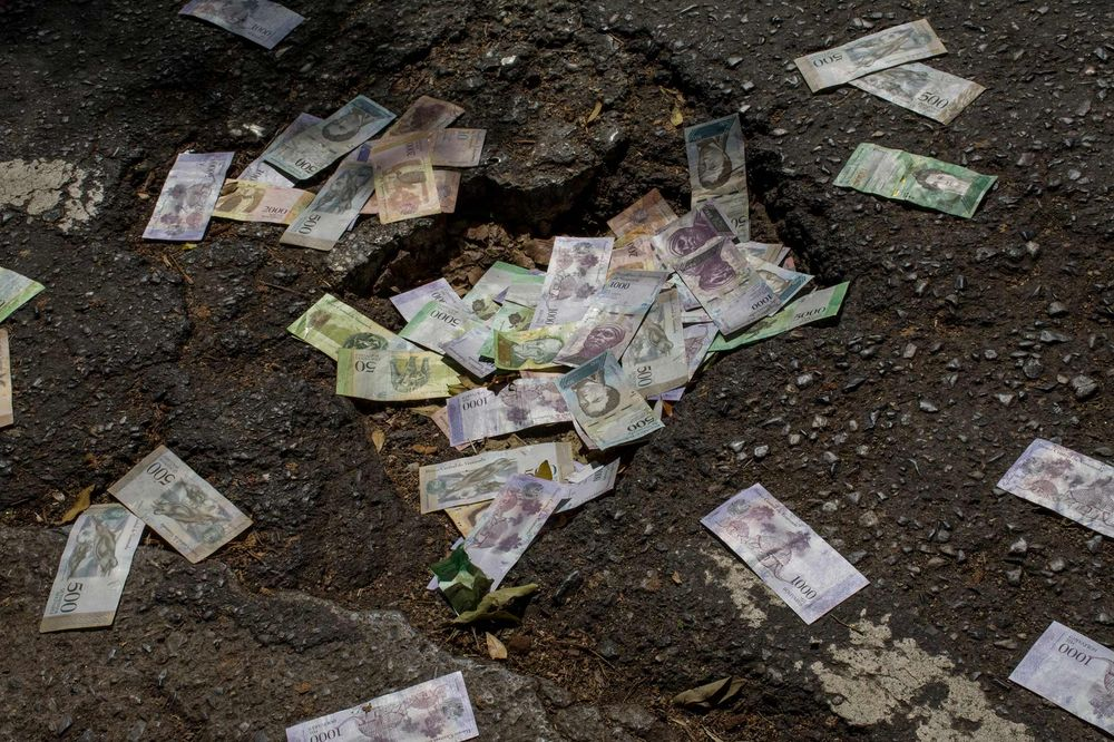 Not worth much -- Money on the streets of Venezuela prove the currency is essentially worthless. Venezuela continues to struggle with economic issues under its current leadership.