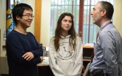 Valedictorian and salutatorian goes to seniors Pei Chao Zhuo and Ava Ferrigno