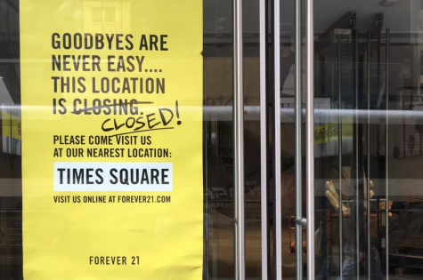 From Riches to Rags- Forever 21 in  NY Times Square, has officially closed down permanently. It's one of the first few 350 planned to be closed down.