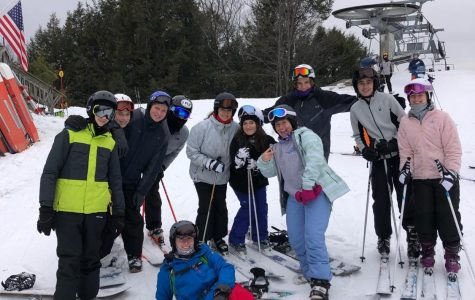 Hittin' the Slopes-- Snowclub members pose for a photo after hours of fun skiing and snowboarding. The club spent the day at Berkshire East Ski Resort, as one of their trips as a club this winter.
