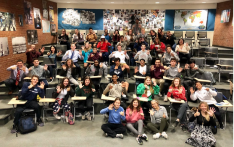 In charge -- The high school student council takes a group photo at the January 30 meeting. The council is promoting increased transparency through their new website located in the Friday Folder.
