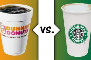 The coffee debate: Dunkin or Starbucks?