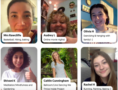 "Thriving together-- High school teachers and students discuss their methods of ""thriving"" on a collaborative Flipgrid, which is being used to celebrate the We Thrive Inside campaign. Students and staff are asked to share videos to the Flipgrid during the week of May 11-15."