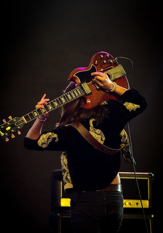 Behind the Back! -- Rock guitarist, Jake Kizska shows his incredible guitar talents during a live Greta Van Fleet performance. This type of talent and entertainment is frequently lost within modern pop music.