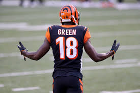 Touchdown -- Wide receiver, AJ Green complaining about a missed pass interference during the season opener game against the Los Angeles Chargers