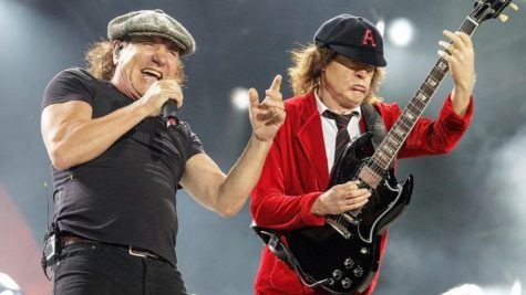 Rock on-- AC/DC lead singer Brian Johnson and lead guitarist Angus Young, perform their top hits on a 2019 world tour. The band has released another chart topping album in 2020 called 'Power Up' which has maintained the same sound and rock culture from the 1980's.