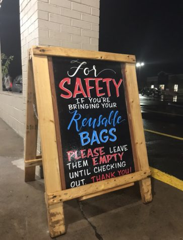 Keep your bags to yourself -- Trader Joe's grocery store in West Hartford, Connecticut has encouraged customers to hold on to their reusable bags until they are at the register. Companies must find ways to limit the waste they produce while also protecting customers