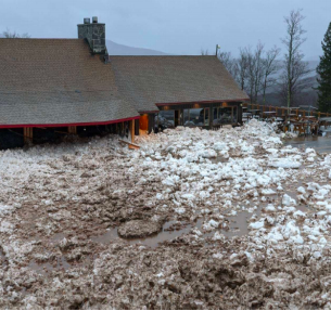 Landslide-- An avalanche slides into Belleayre Ski Resort in New York. The avalanche flooded the lodge; no one was injured.