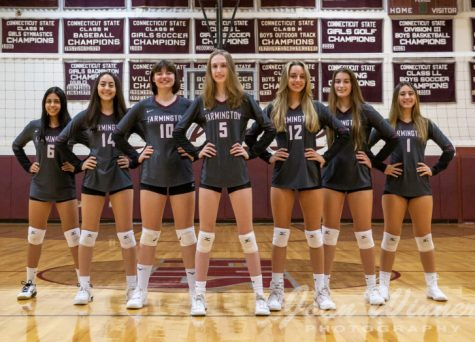 Back in business -- The girls volleyball team is lead by seven seniors. Volleyball and all fall sports officially started on September 9.